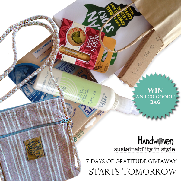 Sustainability In Style and Handwoven Instagram Giveaway!
