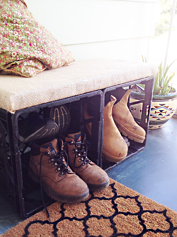 DIY: Milk Crate Bench Seat with Storage