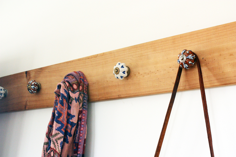 DIY: Recycled Hall Hooks