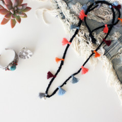Make Your Own Boho Tassel Necklace