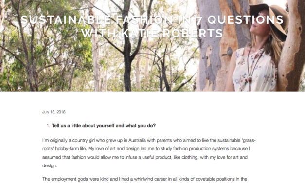 Sustainability in Style Answers Seven Questions for Elvis and Kresse