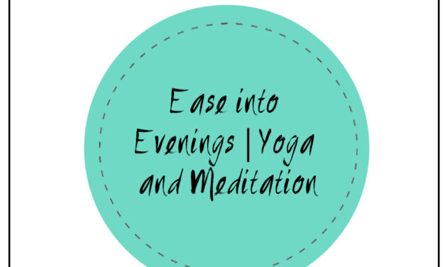 EASE INTO EVENINGS   6:00 PM  MARCH 30TH